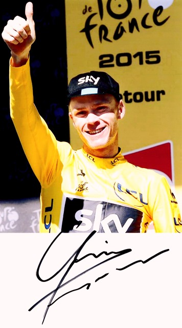 Chris Froome, Autograf